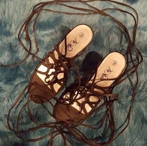 Shoes - BRAND NEW Wrap Tie Heels